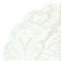 Servietten - Rund - GRANDEUR white