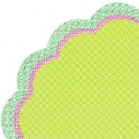 Servietten - Rund JOLLY STRIPE light green