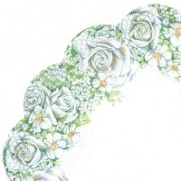 Servietten - Rund ROMANTIC ROSES