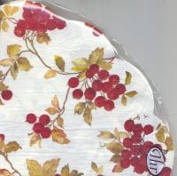 Servietten - Rund - RED BERRIES cream