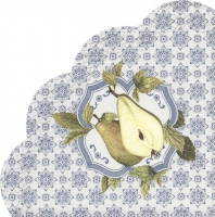 Servietten - Rund - PEAR ON THE FLAG blue