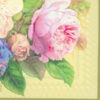 Servietten 33x33 cm - FAIRY ROSE cream