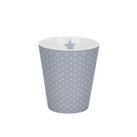 Porzellan-Becher -  Micro dots  Grey