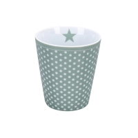 Porzellan-Becher -  Micro dots  Dusty green