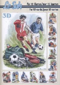 3D Bogen Buch Fussball - Format A5
