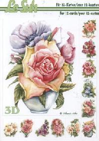 3D Bogen Buch Blumen - Format A5