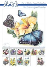 3D Bogen Buch Schmetterlinge Format A5