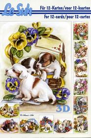 3D Bogen Buch Hunde - Format A5