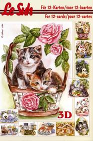 3D Bogen Buch Katzen - Format A5