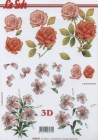 3D Bogen Rosen + Lilien Format A4