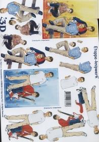 3D Bogen Format A4 - Jungen