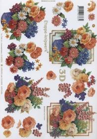 3D Bogen Blumenstrauss Format A4