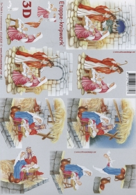3D Bogen Weihnachts Krippe Format A4