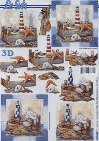 3D Bogen Seestern+Leuchtturm Format A4