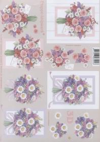 3D Bogen Format A4 Blumenstrau?