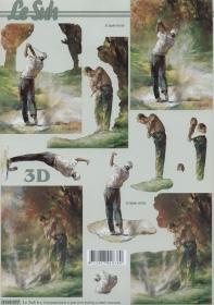 3D Bogen Format A4 Golfspieler