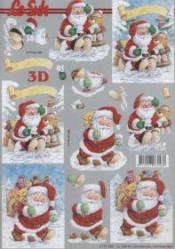 3D Bogen Weihnachtsmann und Bär
