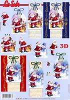 3D Bogen Weihnachtsmann auf Karte Format A4