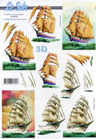 3D Bogen Format A4 Schiffe
