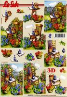 3D Bogen Format A4 Stuhl im Garten