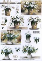 3D Bogen Format A4 - Blumentopf
