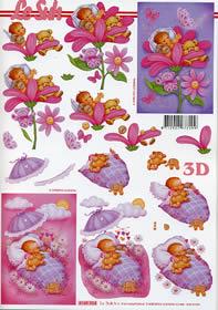 3D Bogen Babygirl - Format A4
