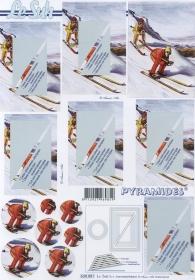 3D Bogen - Pyramiden - Format A4