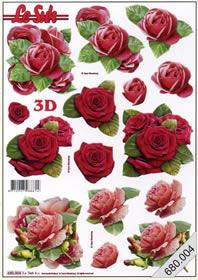 3D Bogen gestanzt 3x Blumen - Format A4