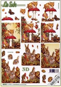 3D Bogen gestanzt 2x Herbst - Format A4
