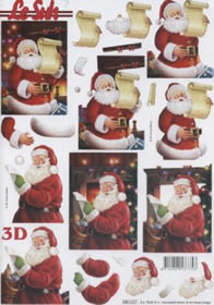 3D Bogen gestanzt Weihnachtsmann - Format A4