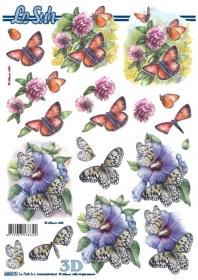 3D Bogen gestanzt Format A4  Schmetterling