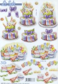 3D Bogen gestanzt Geburtstagstorte