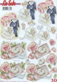 3D Bogen gestanzt Hochzeitskleidung