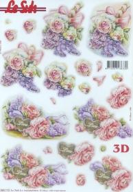 3D Bogen gestanzt Rosen