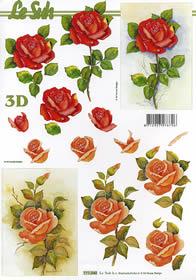 3D Bogen Rose - Format A4