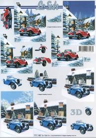3D Bogen PKW vor dem Haus - Format A4