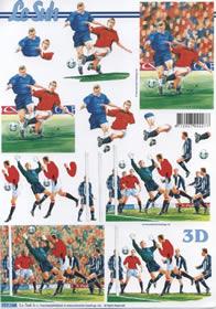 3D Bogen Fu?ball 2x - Format A4