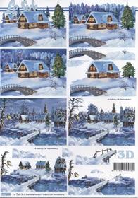 3D Bogen Winter - Format A4