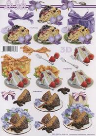 3D Bogen Format A4 Kuchen