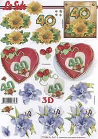 3D Bogen Jubiläum 40 Jahre Format A4