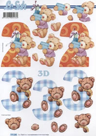 3D Bogen 2+3 Jahre - Format A4