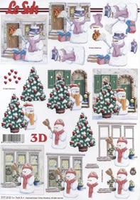 3D Bogen Format A4-Schneemann