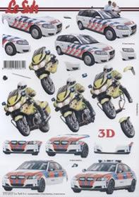 3D Bogen Auto+Motorrad - Format A4