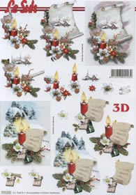 3D Bogen Format A4 - Weihnachtsdeko
