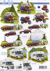 3D Bogen Camping + Zelten - Format A4 - Format A4