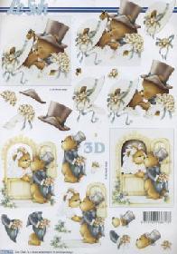 3D Bogen Hochzeit B?ren - Format A4