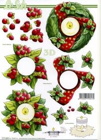 3D Bogen Weihnachten - Format A4