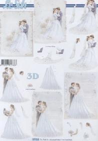 3D Bogen Brautpaar - Format A4