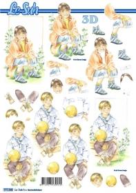 3D Bogen Junge und Mädchen Format A4