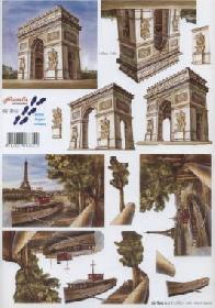 3D Bogen Triumphbogen Paris - Format A4